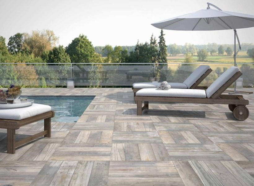 Azulejos para terraza trendy bao rstico con baera oval moderna lavabo tpico para los baos - Azulejos para terraza ...